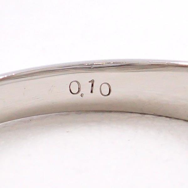 リング PT900 プラチナ 14号 ダイヤ 0.10