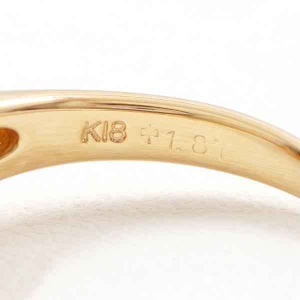 リング K18 18金 YG イエローゴールド 15.5号 シトリン 1.87 ダイヤ 0.23|wonderprice|06