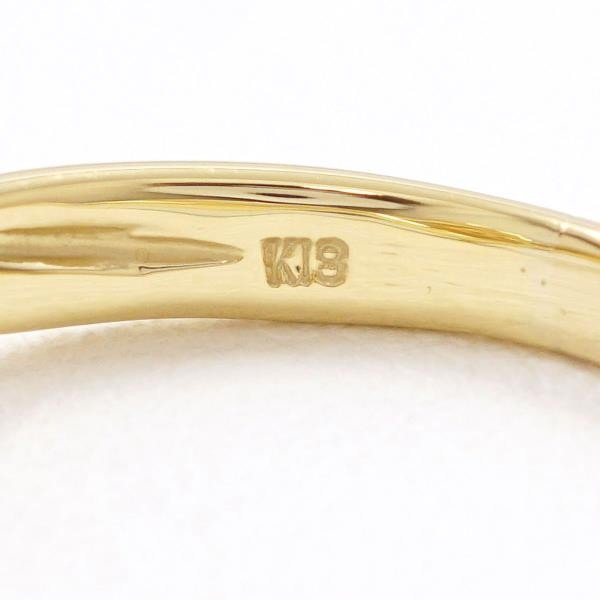リング K18 18金 YG イエローゴールド 16号 シトリン ダイヤ 合計0.40|wonderprice|06