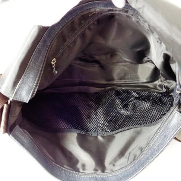 コムサメン PVCキャンバス グレー バッグ ショルダーバッグ メンズ 【あすつく】