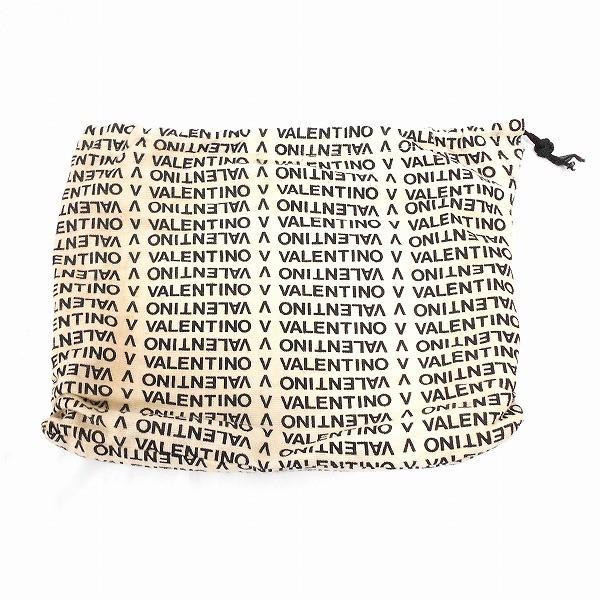 ヴァレンティノ ロゴ ボーダー PVC レザー ブラウン バッグ セカンドバッグ メンズ 【あすつく】