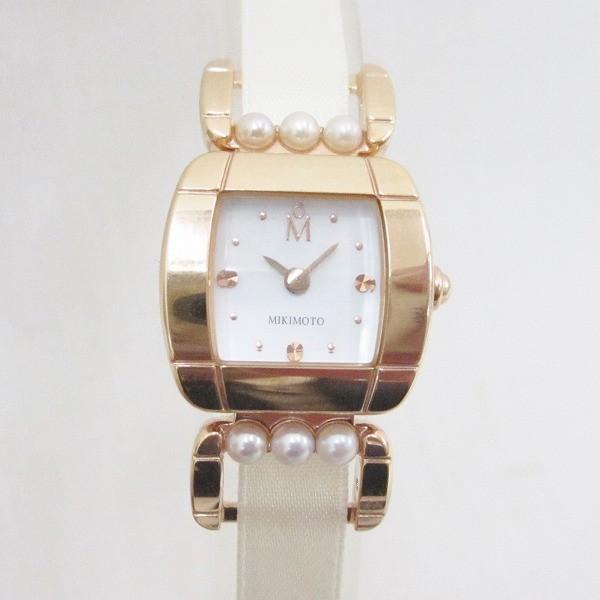ミキモト パール シェル文字盤 時計 腕時計 レディース クォーツ 【中古】【あすつく】