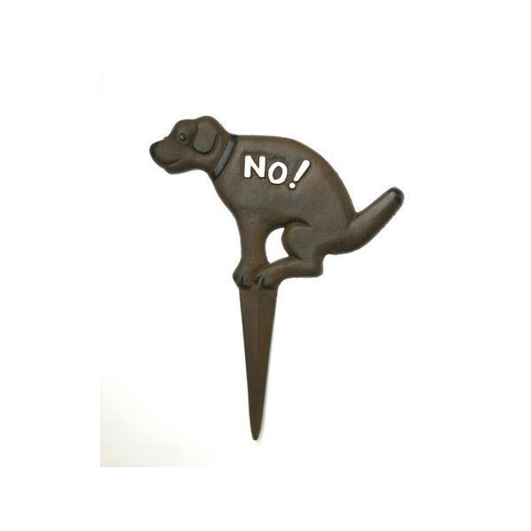 ガーデニング雑貨 サインプレート 注意看板 アイアン犬のプレート|wood-itsuki|02