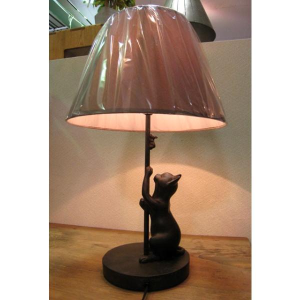 追いかけ猫 シェードランプ スタンド ネコ 照明 ねこ置物 ねこグッズ 猫雑貨 ギフト 可愛い おしゃれ|wood-itsuki