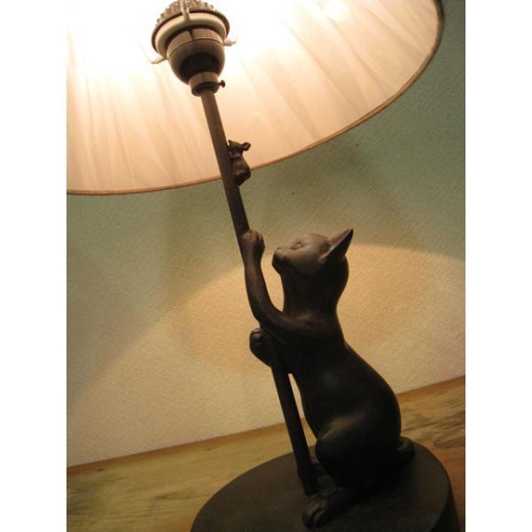 追いかけ猫 シェードランプ スタンド ネコ 照明 ねこ置物 ねこグッズ 猫雑貨 ギフト 可愛い おしゃれ|wood-itsuki|02