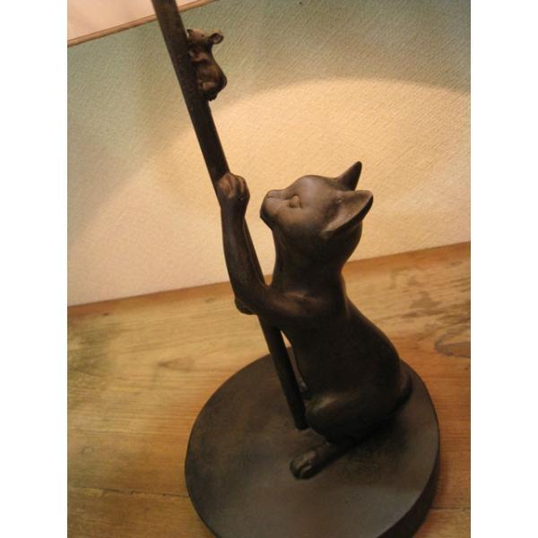 追いかけ猫 シェードランプ スタンド ネコ 照明 ねこ置物 ねこグッズ 猫雑貨 ギフト 可愛い おしゃれ|wood-itsuki|03