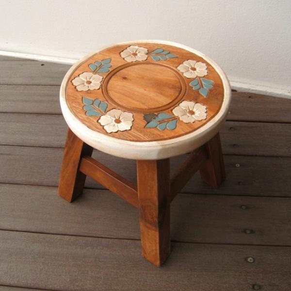 ab316694cba9c クマシェイプ スツール キッズチェア 木製 子供用椅子 かわいい ...