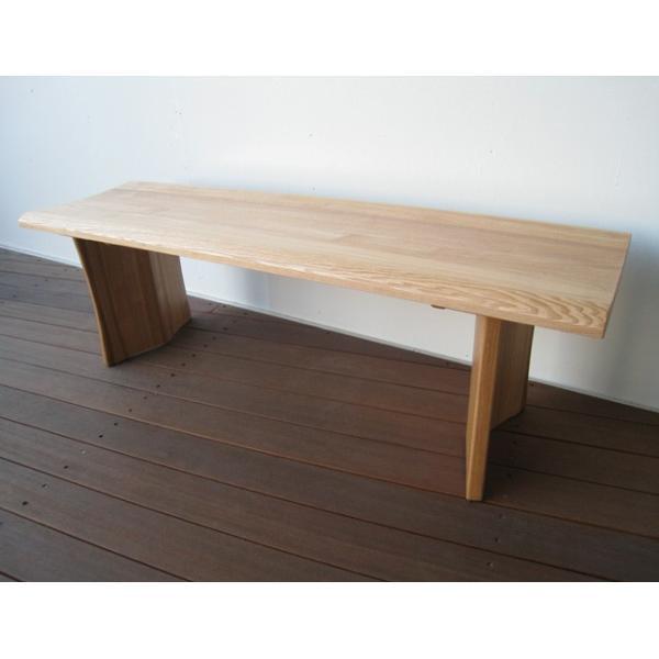 ベンチ 一枚板  木製 タモ無垢  ベンチチェア 長椅子 北欧 天然木 おしゃれ |wood-itsuki