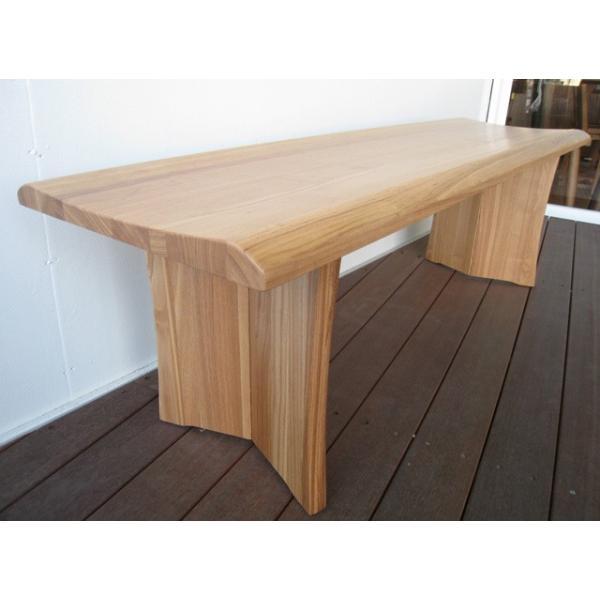 ベンチ 一枚板  木製 タモ無垢  ベンチチェア 長椅子 北欧 天然木 おしゃれ |wood-itsuki|02