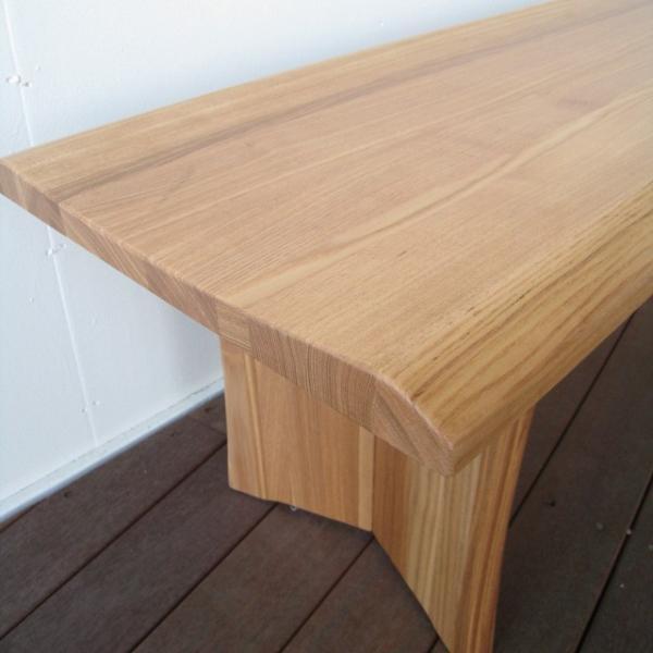 ベンチ 一枚板  木製 タモ無垢  ベンチチェア 長椅子 北欧 天然木 おしゃれ |wood-itsuki|03