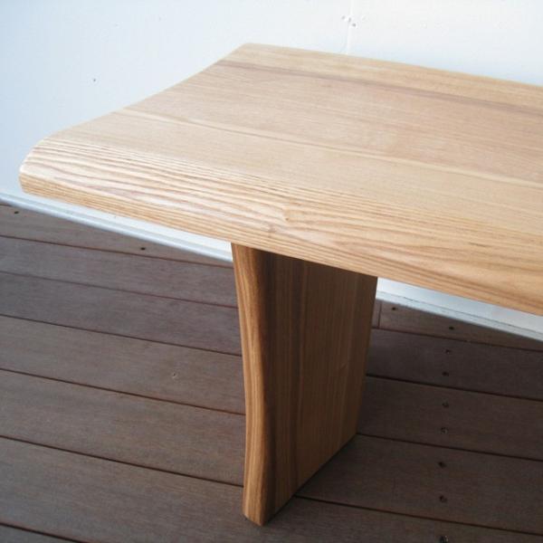 ベンチ 一枚板  木製 タモ無垢  ベンチチェア 長椅子 北欧 天然木 おしゃれ |wood-itsuki|04
