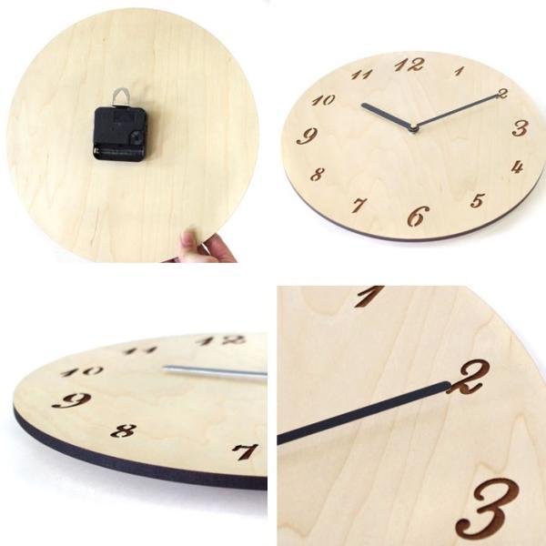 壁掛け 時計 時計 木製    ボードクロック   ササキ工芸 旭川 クラフト|wood-l|04