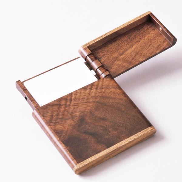 名刺入れ 木製 【 木製 ビジネスカードケース 】 ササキ工芸 旭川 クラフト|wood-l|02