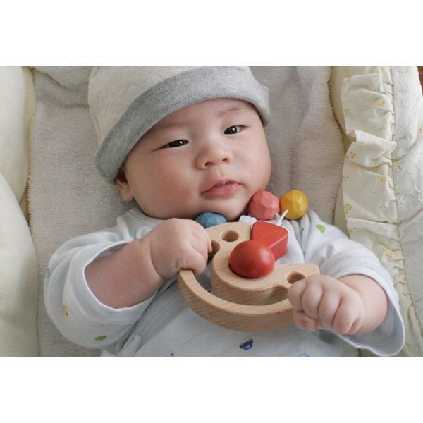 木のおもちゃ 出産祝い 0歳 1歳 知育 手作り/ びっくりピエロ( 日本製 おしゃぶりや歯がためにもOK! ) wooden-toys 03