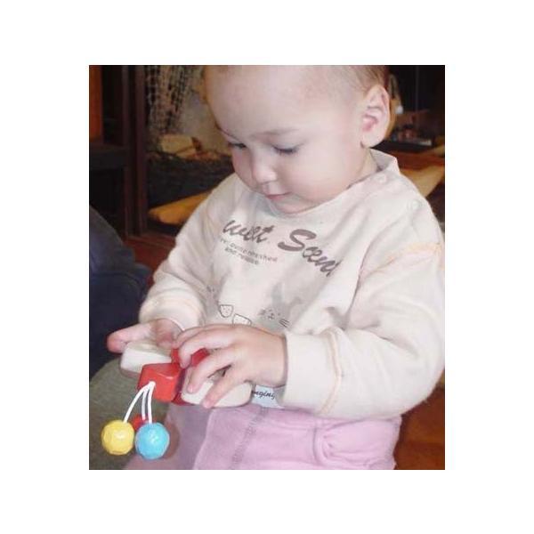 木のおもちゃ 出産祝い 0歳 1歳 知育 手作り/ びっくりピエロ( 日本製 おしゃぶりや歯がためにもOK! ) wooden-toys 05