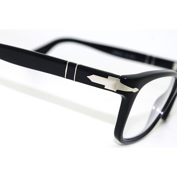 Persol ペルソール メガネフレーム ブランド 0PO-3012-95 ブラック|woodnet|04