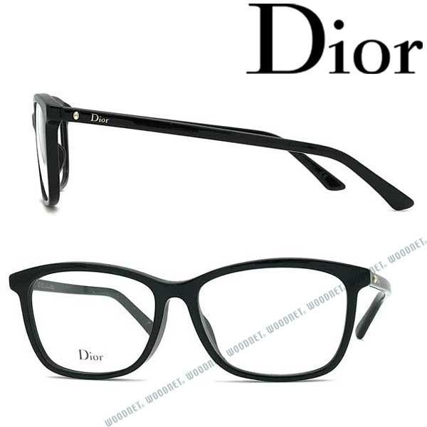 Christian Dior クリスチャンディオール ブラック メガネフレーム ブランド 眼鏡 CRD-MONTAIGNE55F-807