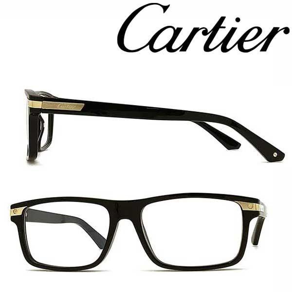Cartier カルティエ ブランド メガネフレーム ブラック 眼鏡 CT-0191O-001