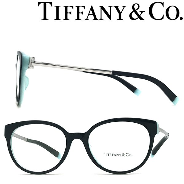 Tiffany & Co. ティファニー メガネフレーム ブランド ブラック×スカイブルー 眼鏡 TF2191F-8055