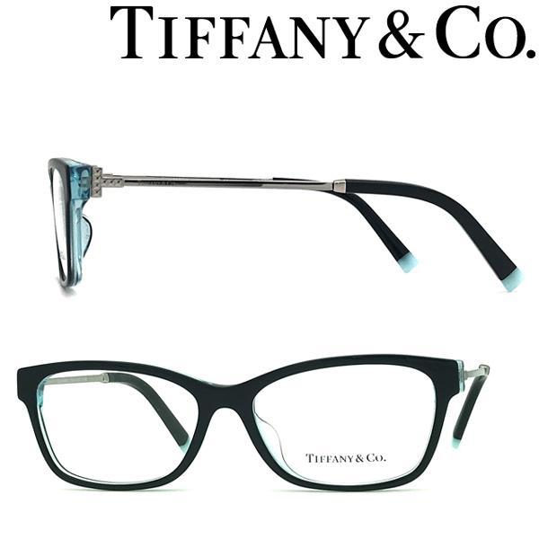Tiffany & Co. ティファニー メガネフレーム ブランド ブラック×クリアースカイブルー 眼鏡 TF2204F-8285