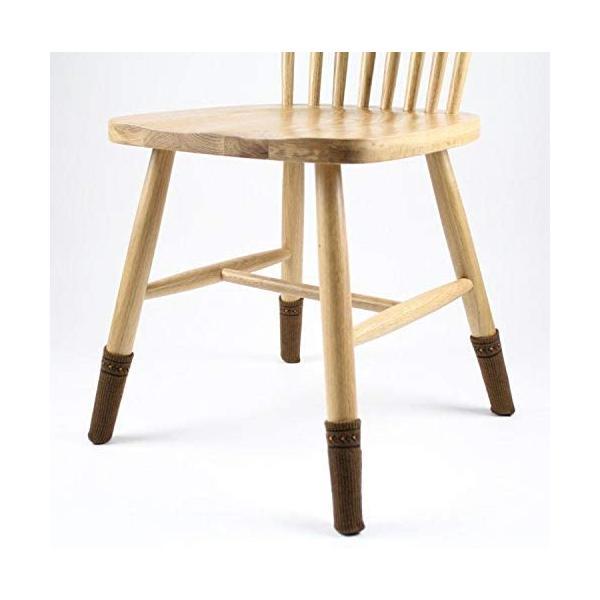 椅子脚カバー チェアソックス 靴下 4脚分 肉厚シリコン付き 椅子カバー 脱げにくい イス足カバー 騒音・傷防止 16枚入り|woodriver|06