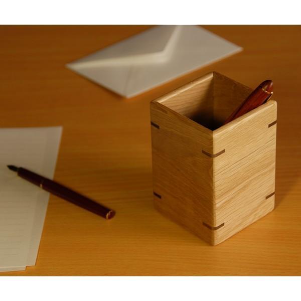 木製 ペンスタンド 【レビューでプレゼント♪】 ナラ製 木のペン立て ウッドペンスタンド ササキ工芸