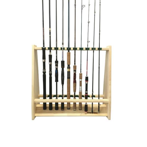 ロッドスタンド 両面19本用 ナチュラル 木製