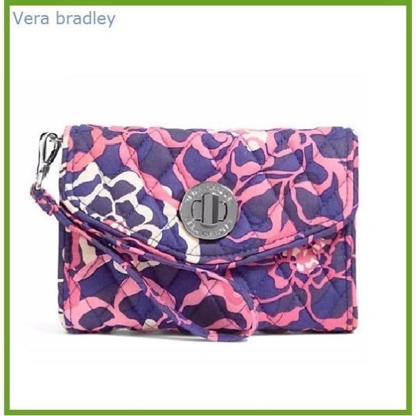 [Vera Bradley]ヴェラ・ブラッドリー ミニ バッグ リストレット カタリーナピンク 13945-330 Your Turn Smartphone Wristlet / Katalina Pink べラブラッドリー