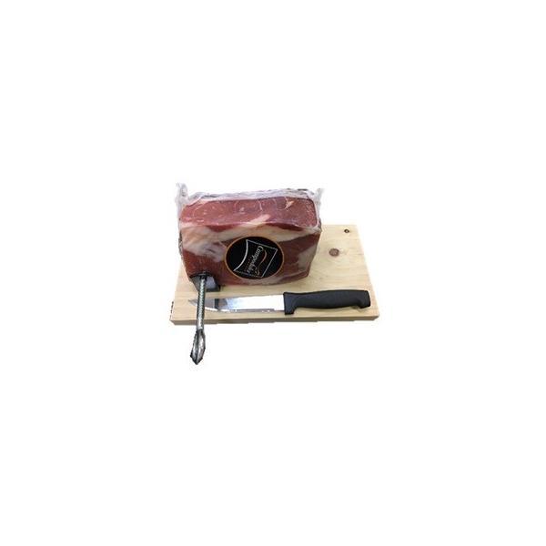 スペイン産生ハム Campodulce ミニセラーノ ブロック 800g(15ヶ月熟成)【専用固定式ホルダー、ナイフセット】
