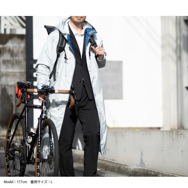 レインコート ロング 自転車 メンズ カッパ 雨具 バイク 大き目 ゆったり 雨コート 防水 透湿 エントラントレインコート 7260 workerbee 12