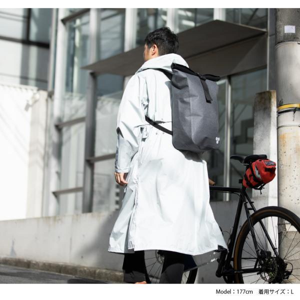 レインコート ロング 自転車 メンズ カッパ 雨具 バイク 大き目 ゆったり 雨コート 防水 透湿 エントラントレインコート 7260 workerbee 13