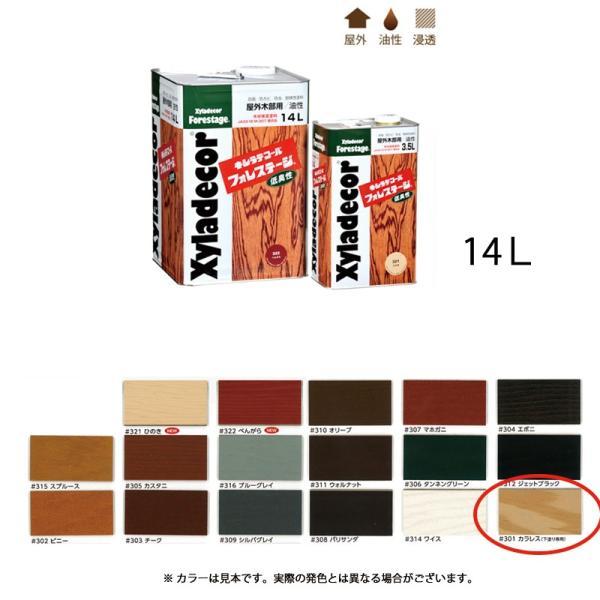 大阪ガスケミカル 木材保護塗料油性 キシラデコールフォレステージ #301 カラレス(下塗り専用) 14L[取寄]