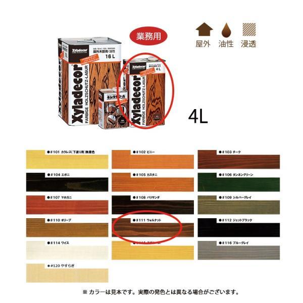 大阪ガスケミカル キシラデコール #111 ウォルナット 4L[取寄]