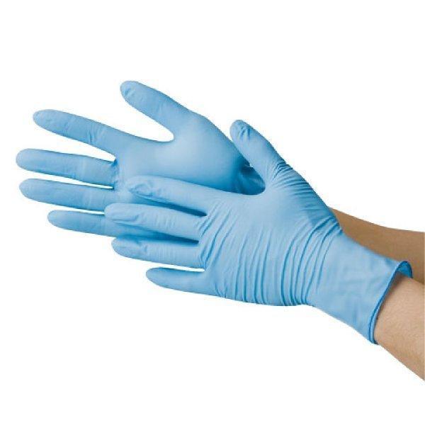 使い捨て手袋 ニトリル極薄手袋 100枚入り 食品加工 清掃 介護 粉なし S/M/L 川西工業 2041|workway|02