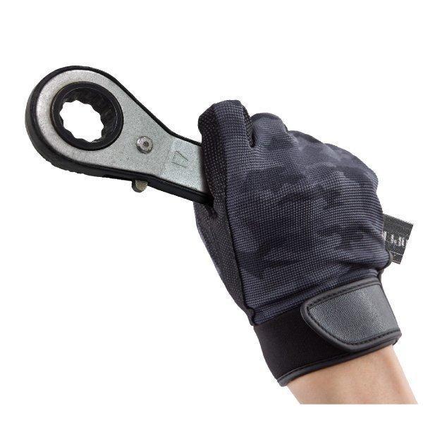 作業用手袋 指先の巧 迷彩ブラック M/L/LL ユニワールド 2520|workway|03
