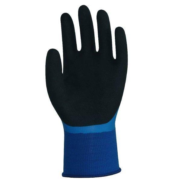 天然ゴム手袋 アクアガード 農業 漁業 清掃 建築 ブルー M/L  LKX301|workway|03