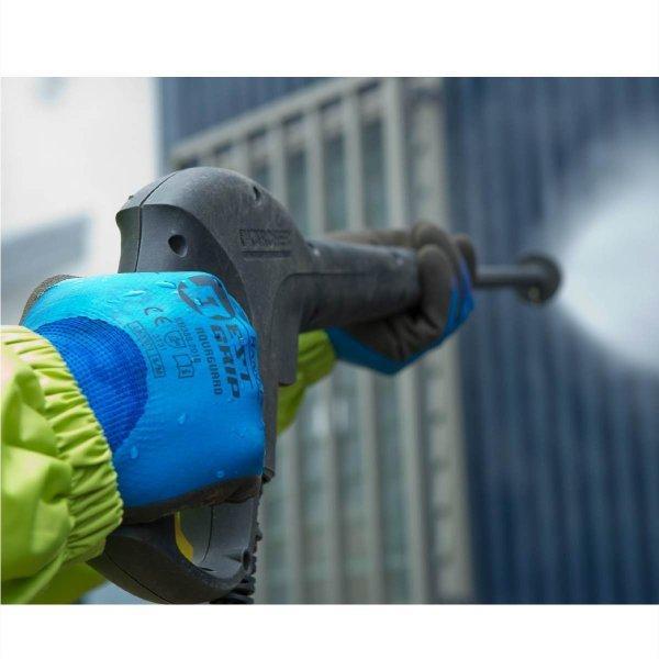 天然ゴム手袋 アクアガード 農業 漁業 清掃 建築 ブルー M/L  LKX301|workway|05