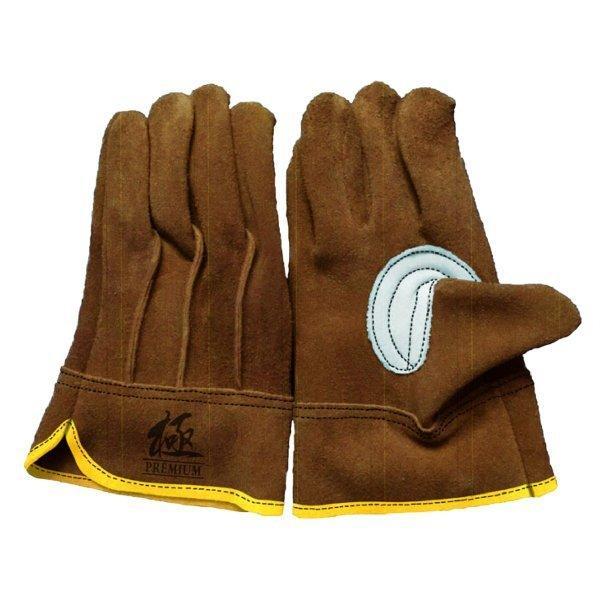 革手袋 ソフトオイル加工  牛床革 ブラウン M/L 革手工房 極|workway|02