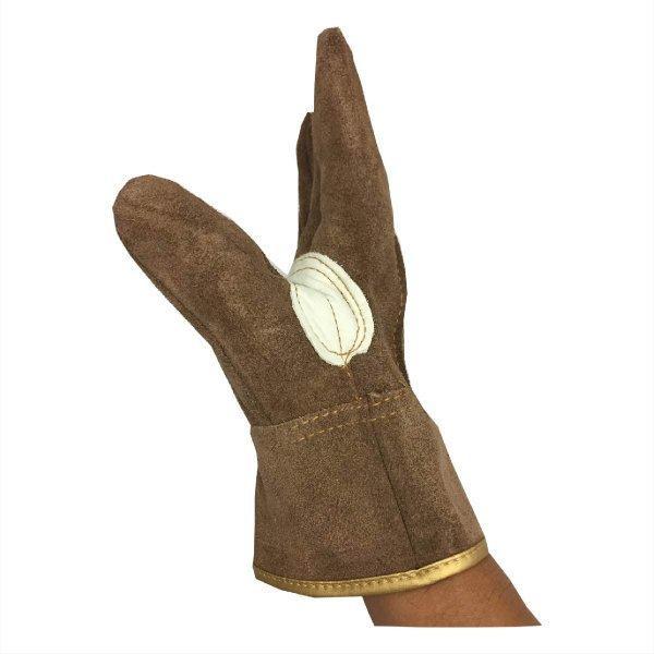 革手袋 ソフトオイル加工  牛床革 ブラウン M/L 革手工房 極|workway|03