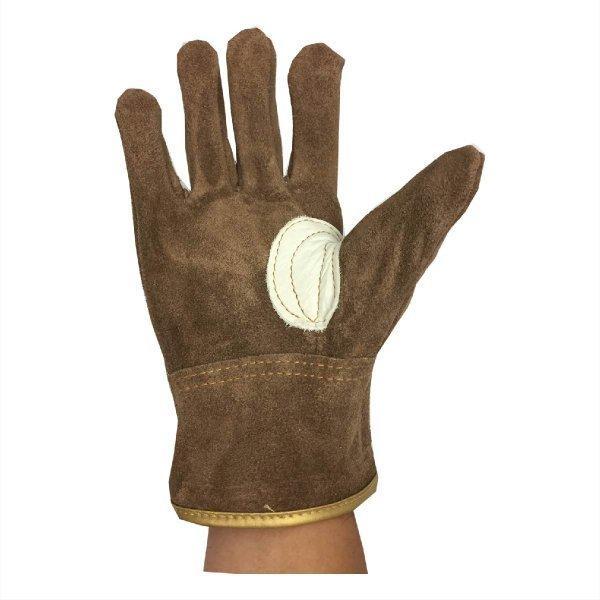 革手袋 ソフトオイル加工  牛床革 ブラウン M/L 革手工房 極|workway|04