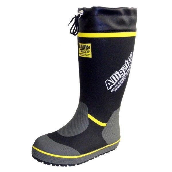長靴 カバー付きゴムロングブーツ ブラック/グリーン オカモト化成品 RMM-7400|workway|03