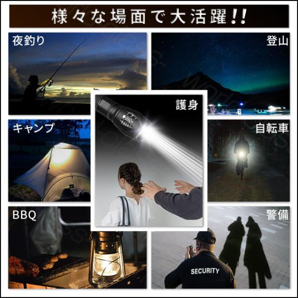 ハンディライト LED ライト CREE社製 ledライト キャンプ用品 懐中電灯 自転車ホルダー付き 軍用 地震対策 アウトドア world-class 17