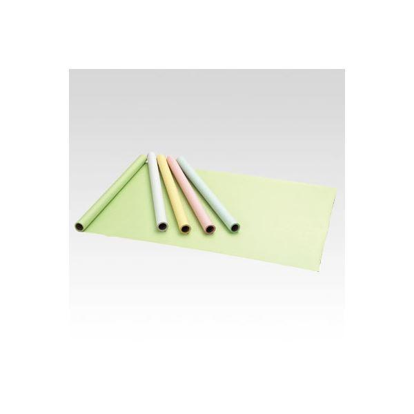 (まとめ) マス目模造紙 ロール10m巻 CR-MS10-BL ブルー 1巻入 〔×4セット〕