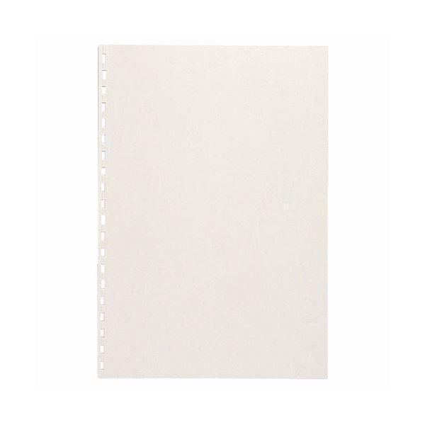 (まとめ) カール事務器 コームリング製本カバー ハード ホワイト TC-51W 1パック(5枚) 〔×10セット〕