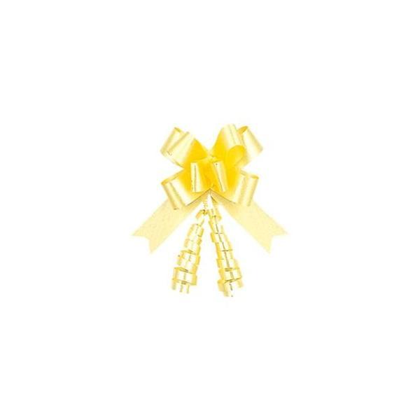 (まとめ) リボンボウ イエロー 1パック(50本) 型番:1410105 〔×3セット〕