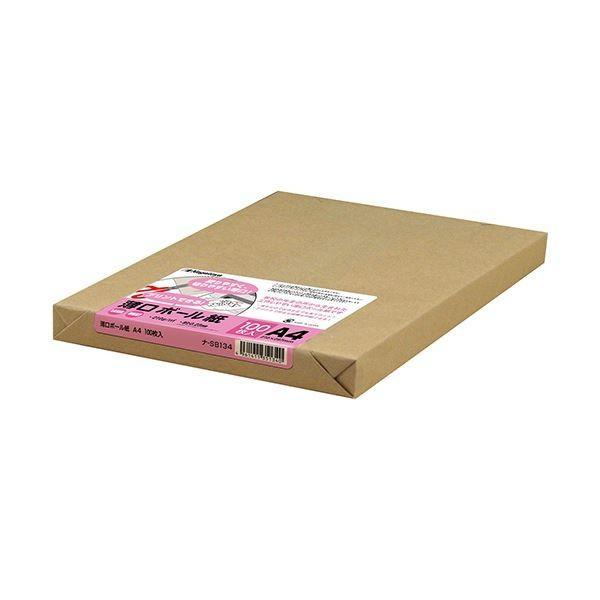 (まとめ) 長門屋商店 薄口ボール紙 A4ナ-SB134 1パック(100枚) 〔×3セット〕