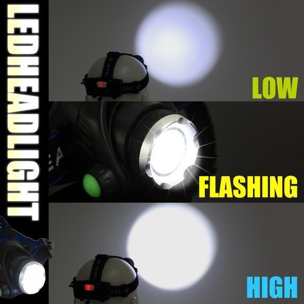 Tomo Light LEDヘッドライト 充電式 地震 台風 大雪 防災 特化型 単眼ライト PSE認証 18650型リチウムイオンバッテリー 2本付属〔2個セット〕