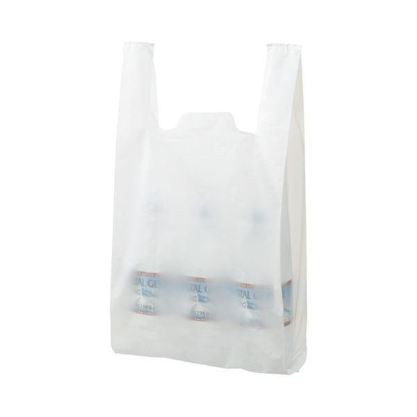 (まとめ) TANOSEE 乳白レジ袋 45号 ヨコ290×タテ540×マチ幅150mm 1パック(100枚) 〔×30セット〕