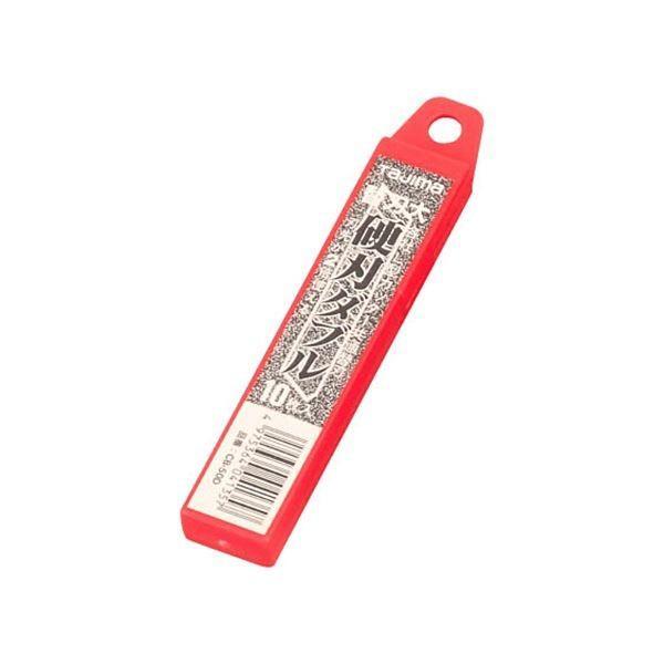 (まとめ) タジマ L型カッター替刃 大 硬刃ダブルCB-50D 1ケース(10枚) 〔×50セット〕