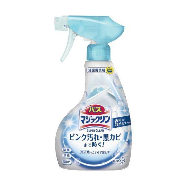 (まとめ)花王 バスマジックリン 泡立ちスプレーSUPER CLEAN 香りが残らないタイプ 本体 380ml 1本〔×10セット〕